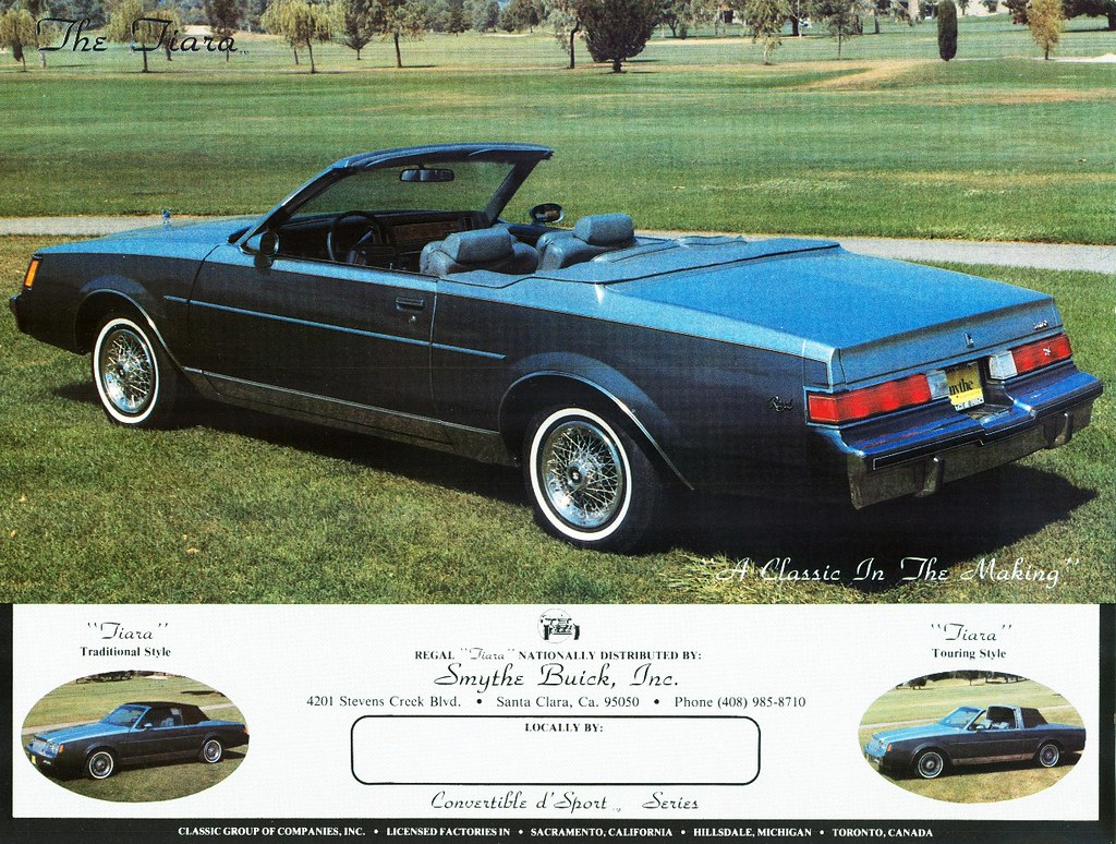 14 Buick Regal >> 1982 Buick Regal Tiara Convertible by Classic Group | Flickr