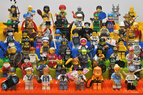 LEGO Collectible Minifigures Series 1 ~ 4 (All 64 Minifigures) | by 713 Avenue