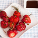 BBQ strawberries with green pepper