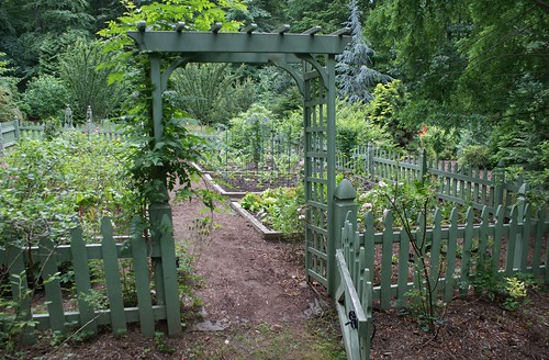 Vegetable Garden With Green Picket Fence 2 Flickr Photo Sharing