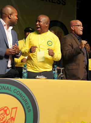 African National Congress Youth League conference in South Africa featured the President Julius Malema as well as President Jacob Zuma. Malema won re-election easily over the youth wing of the ruling party. | by Pan-African News Wire File Photos