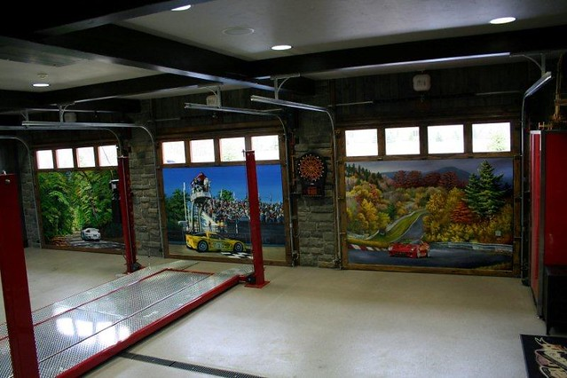 Hand painted carriage style garage doors flickr photo sharing