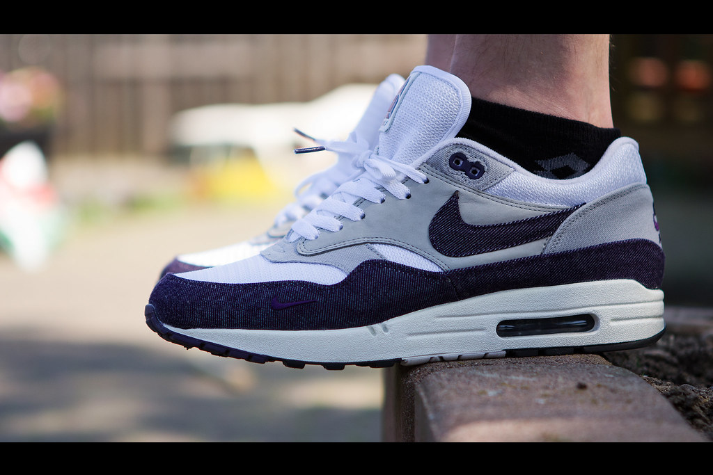 Air Max 1 X Patta Pourpre Denim Salopette
