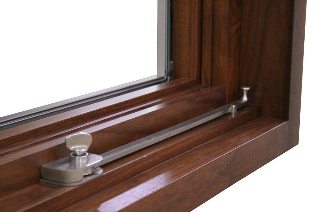 Custom Awning Wood Window With Push Bar Hardware Grabill