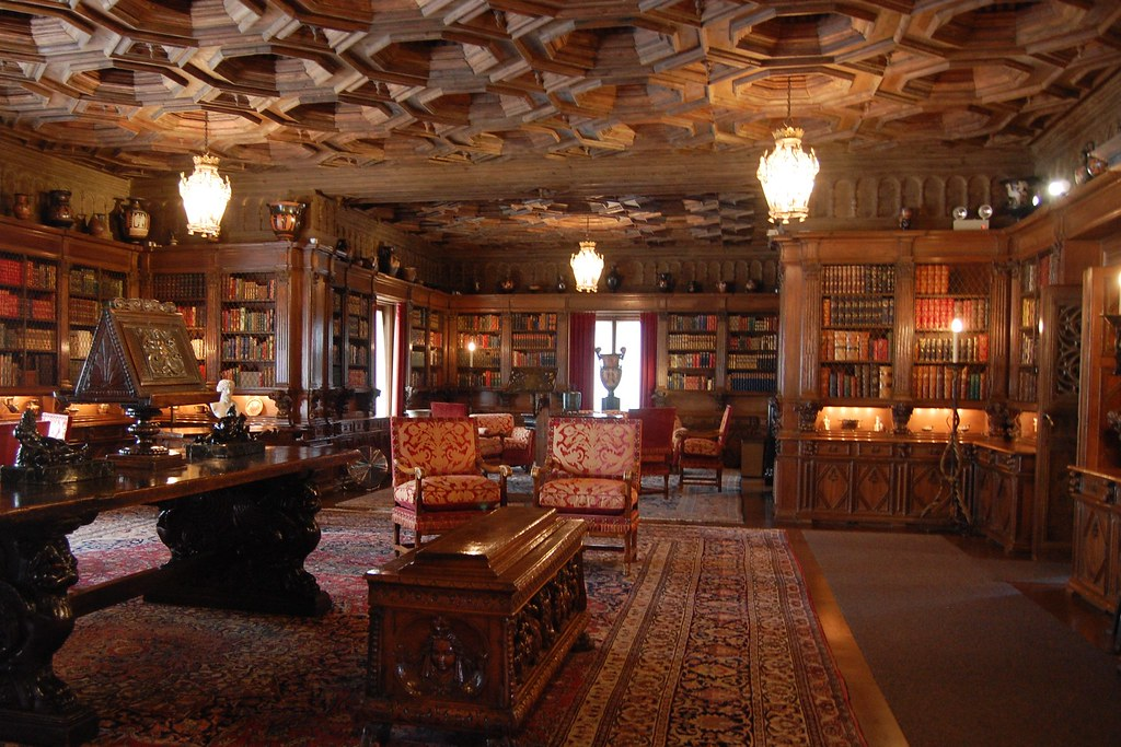Antique English Library Room