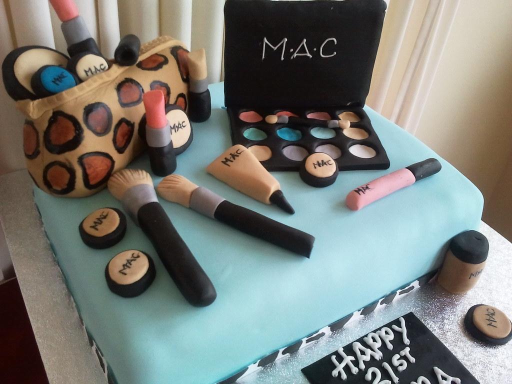 Makeup Cake Decoration : Mac makeup cake Sharon Sweeney Flickr
