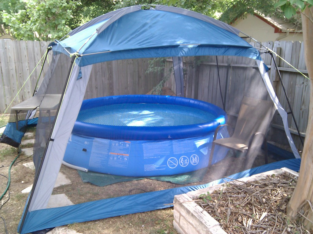 We Got An Intex Easy Set Pool Today With An Arbor Tent To