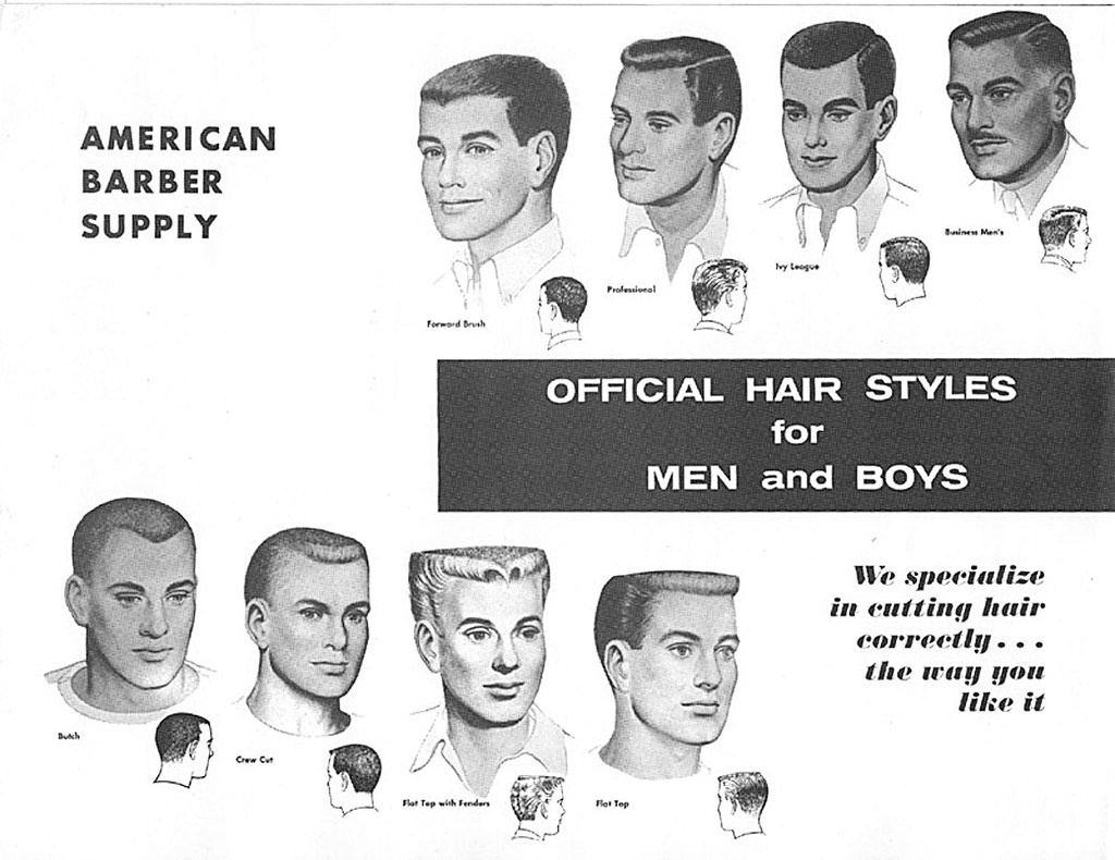 1950s Mens Hair Styles In The Mid 1950 S The Flattop