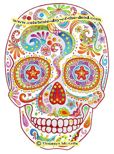Psychedelic Sugar Skull Drawing Flickr Photo Sharing