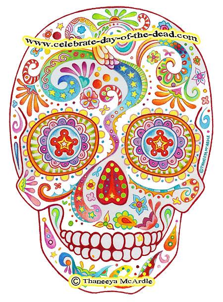 Psychedelic Sugar Skull Drawing Heres My Latest Sku