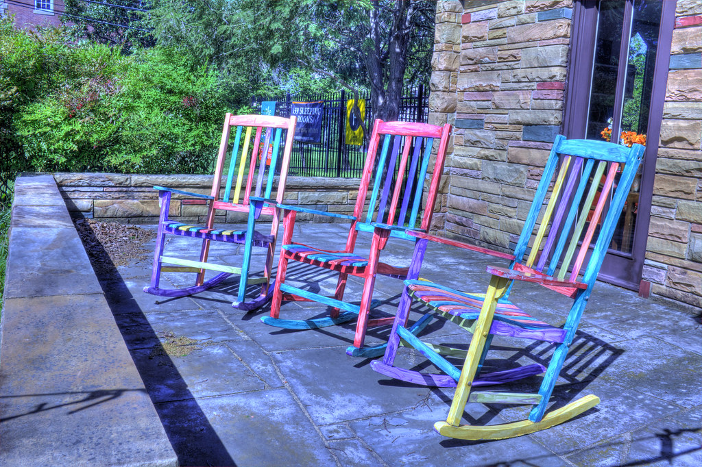 Colorful Rocking Chairs - Near Music Row  Colorful rocking ...