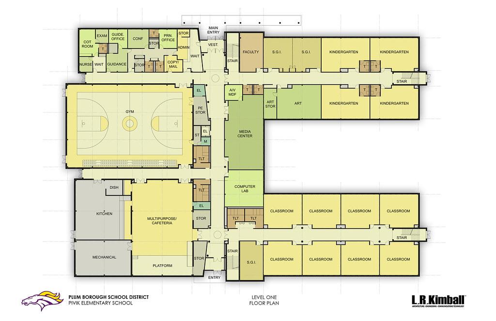 pivik elementary - level 1 floor plan | courtesy of l.r. kim… | flickr