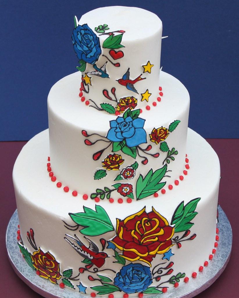 Tattoo Style Wedding Cakes