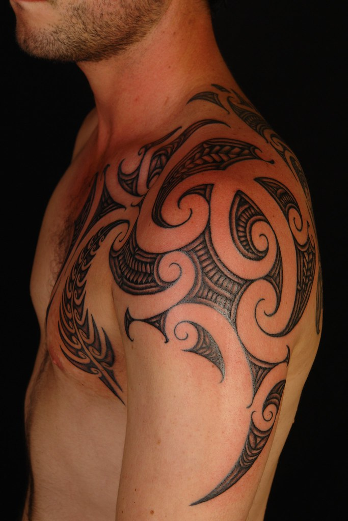 Maori Shoulder Fern Tattoo 2