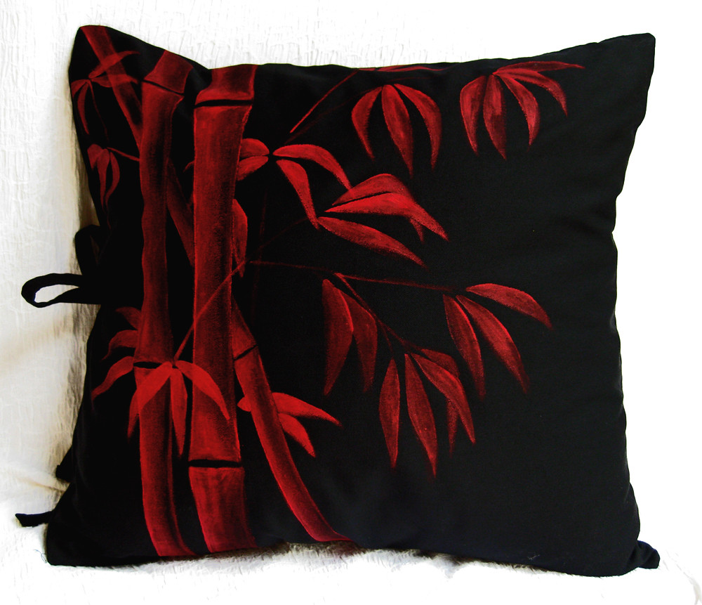 Pair of Throw Pillow Covers with Hand Painted Bamboo Flickr