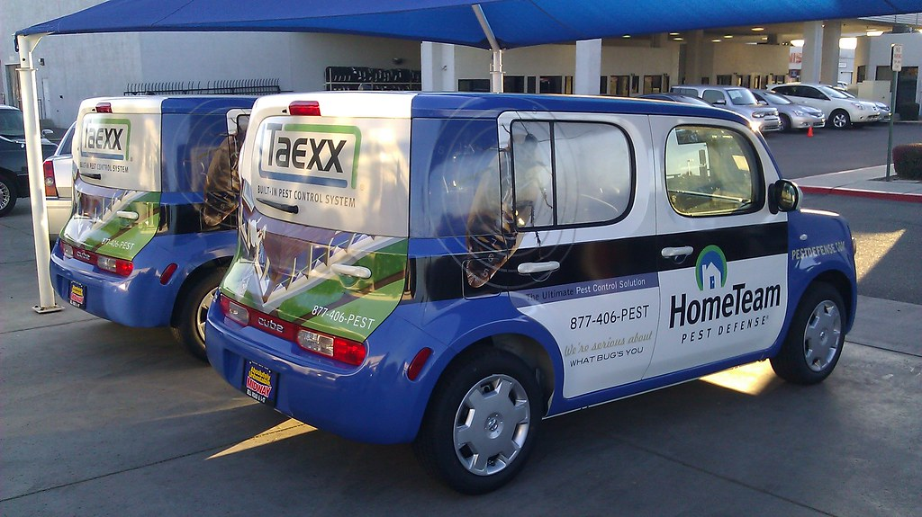 vehicle wraps for home team pest defense in los angeles c flickr
