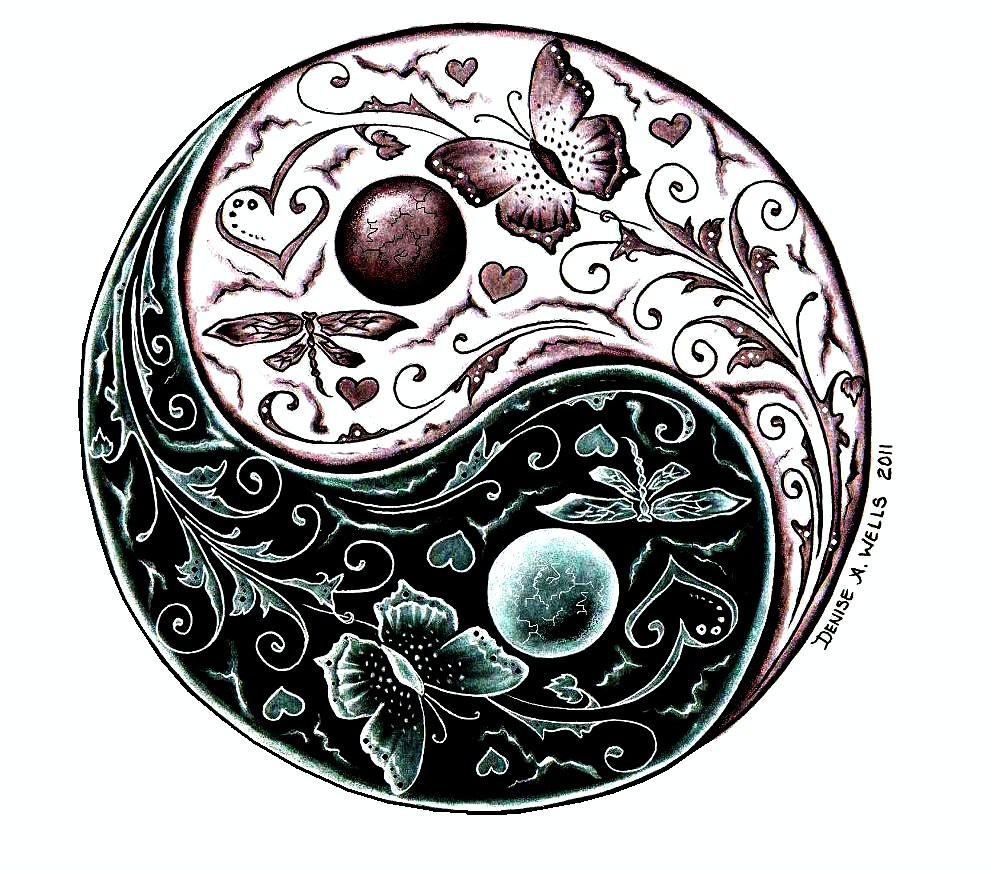 Yin Yang Tattoo Design By Denise A. Wells