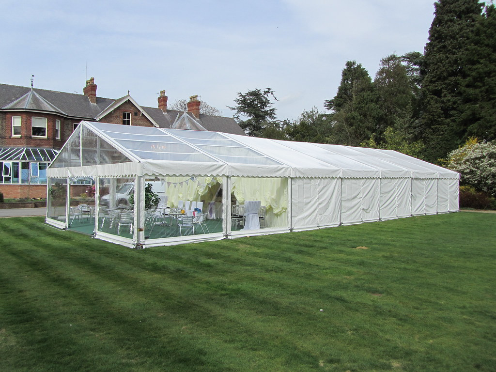 Marquee Tent With Clear Roofs Walls And Gable End By Chur