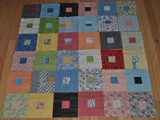 half of my jellyroll blocks | by vickivictoria