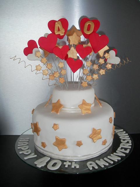 40th wedding anniversary cake flickr photo sharing