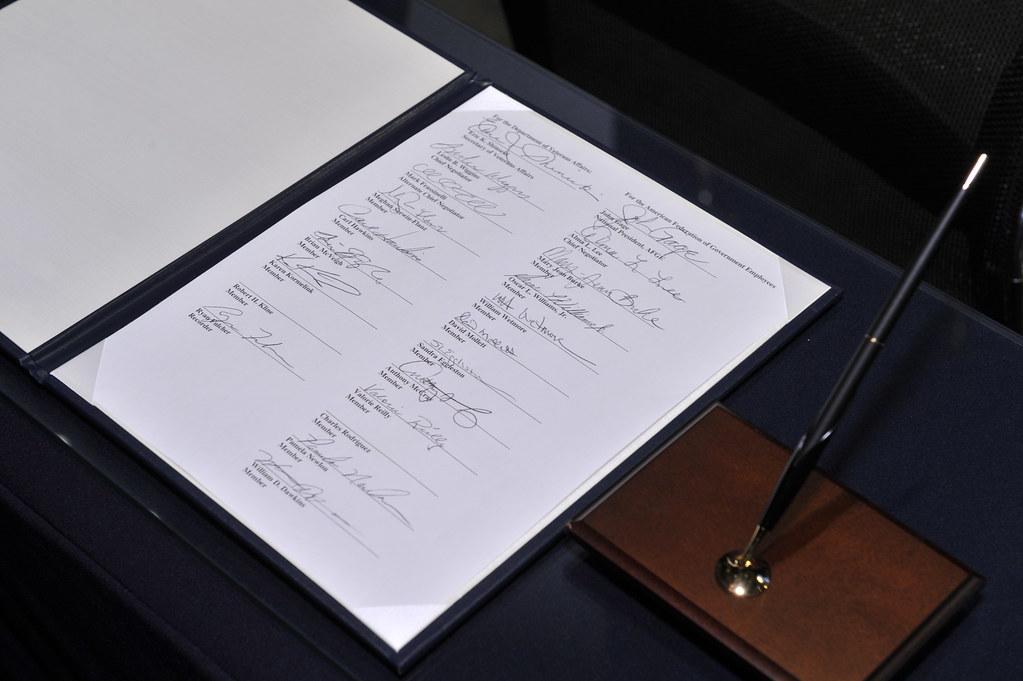 Signing Ceremony Of AFGE VA Master Agreement AFGE