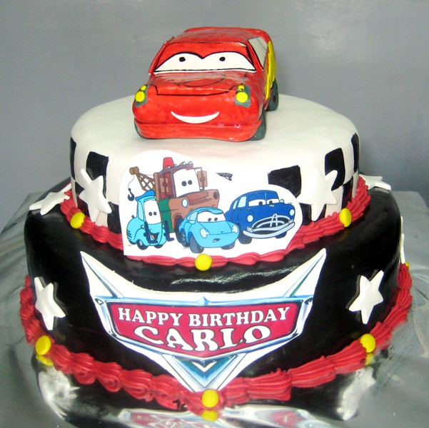 School Themed Birthday Cakes Cars Theme Birthday Cake