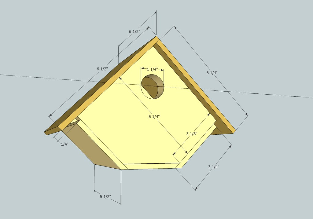 Bird House Dimensions The Bottom Is 3 Quot Wide X 5 5 Deep