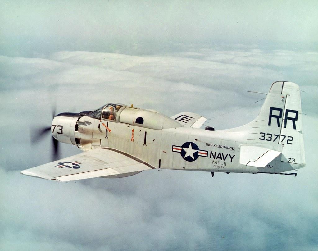 Douglas Ad Ea1e Skyraider Of Carrier