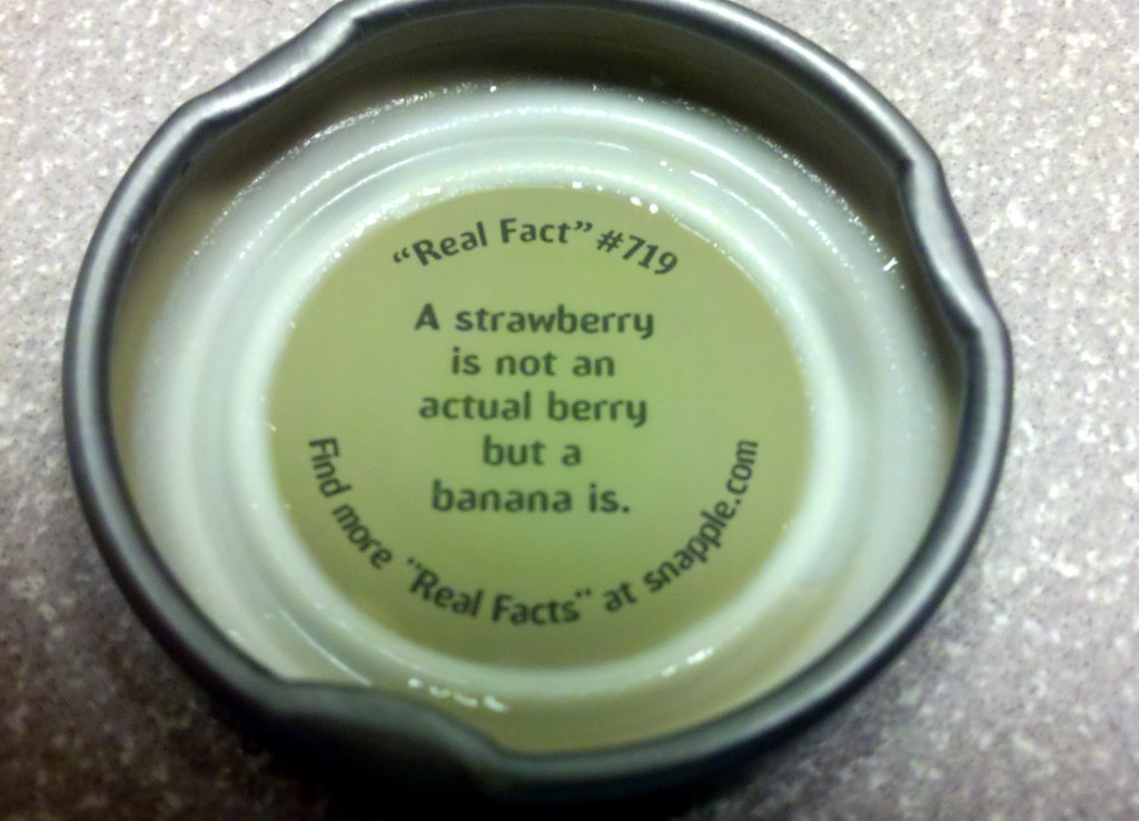 Snapple Cap Quot Real Fact Quot 719 Snapple S Quot Real Fact Quot 719