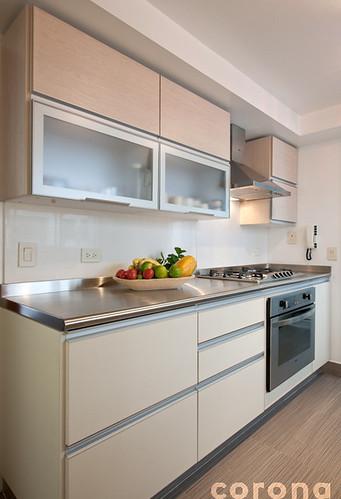 Atm sfera contempor nea para una cocina tradicional 4 - Cocinas rectangulares ...