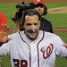 Mike Morse says thanks for the shaving cream pie