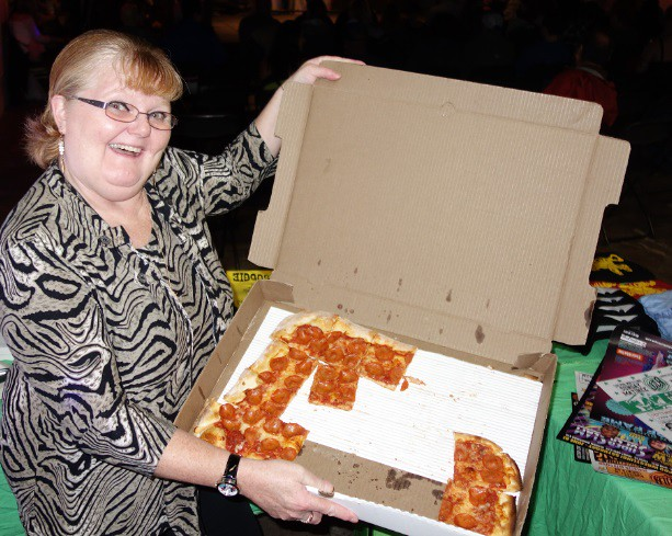 pizza for sale at Hogtown Wrestling