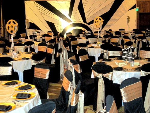 Scenographics Denver Hollywood Theme Party Tables And Art
