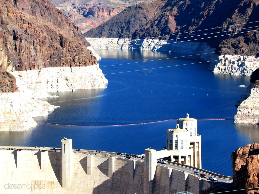 Hoover Dam Completed In 1936 Highest Concrete Arch Dam