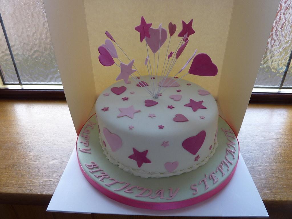 Hearts Amp Stars Birthday Cake Sugar Crumb Fairy Flickr