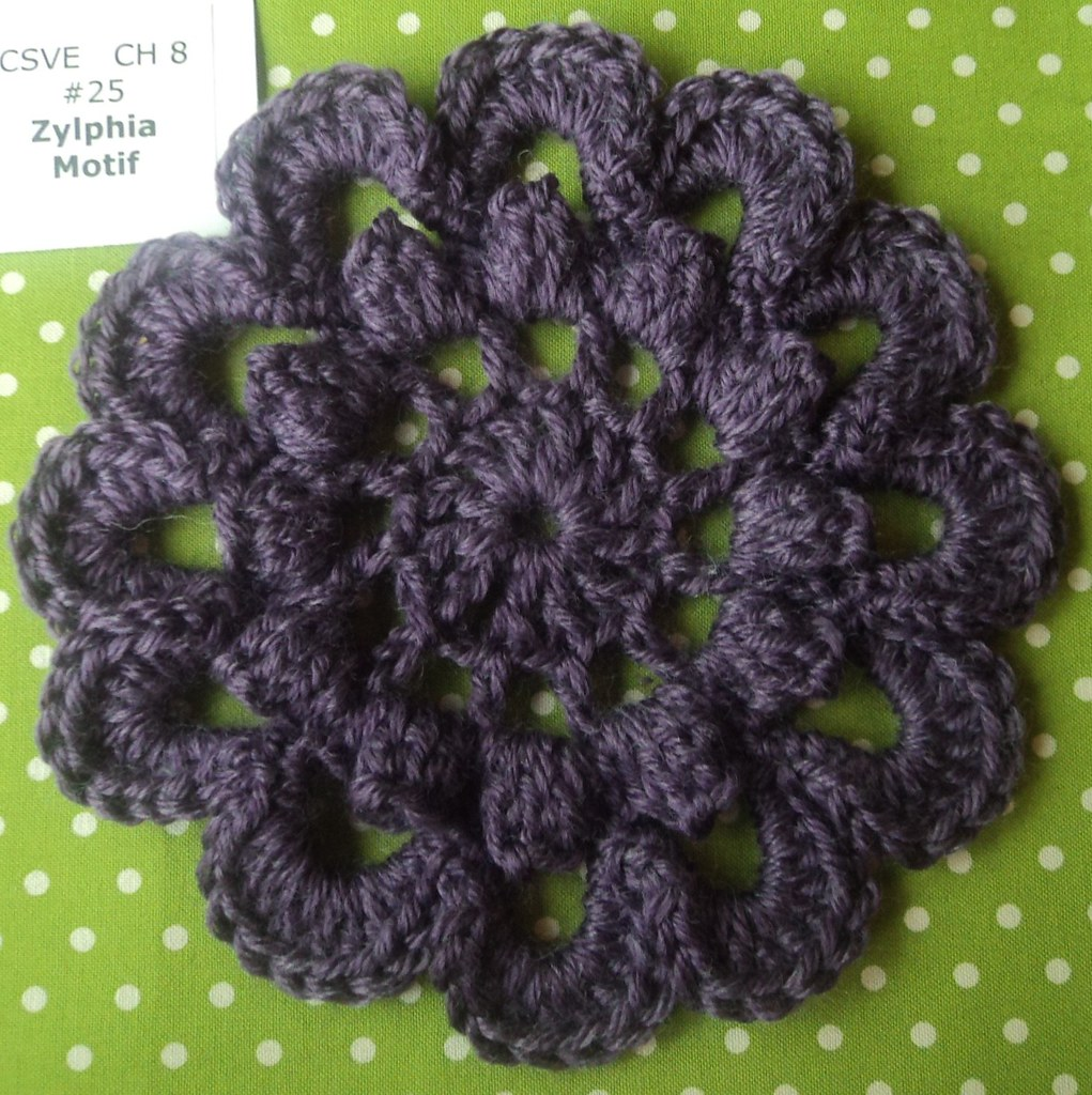 zylphia motif Crochet Stitch Visual Encyclopedia Flower an ...