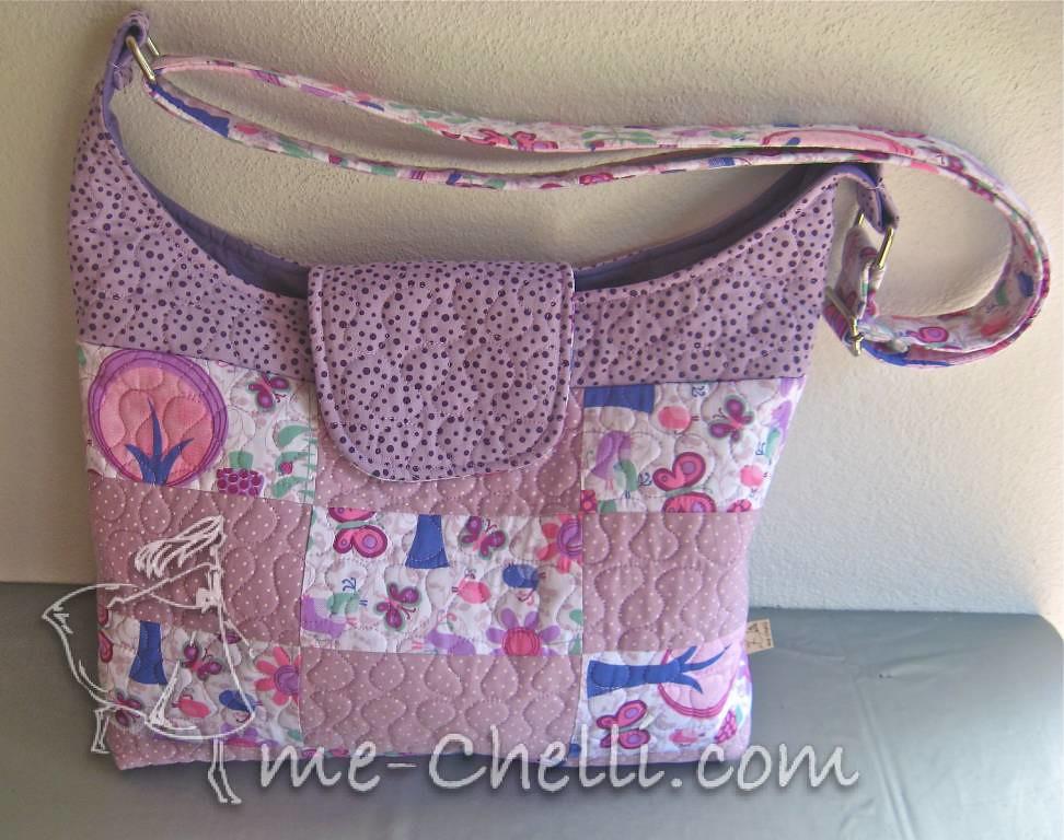 Bolsa De Tecido Quiltada : Bolsa patchwork lil?s de quiltada ?