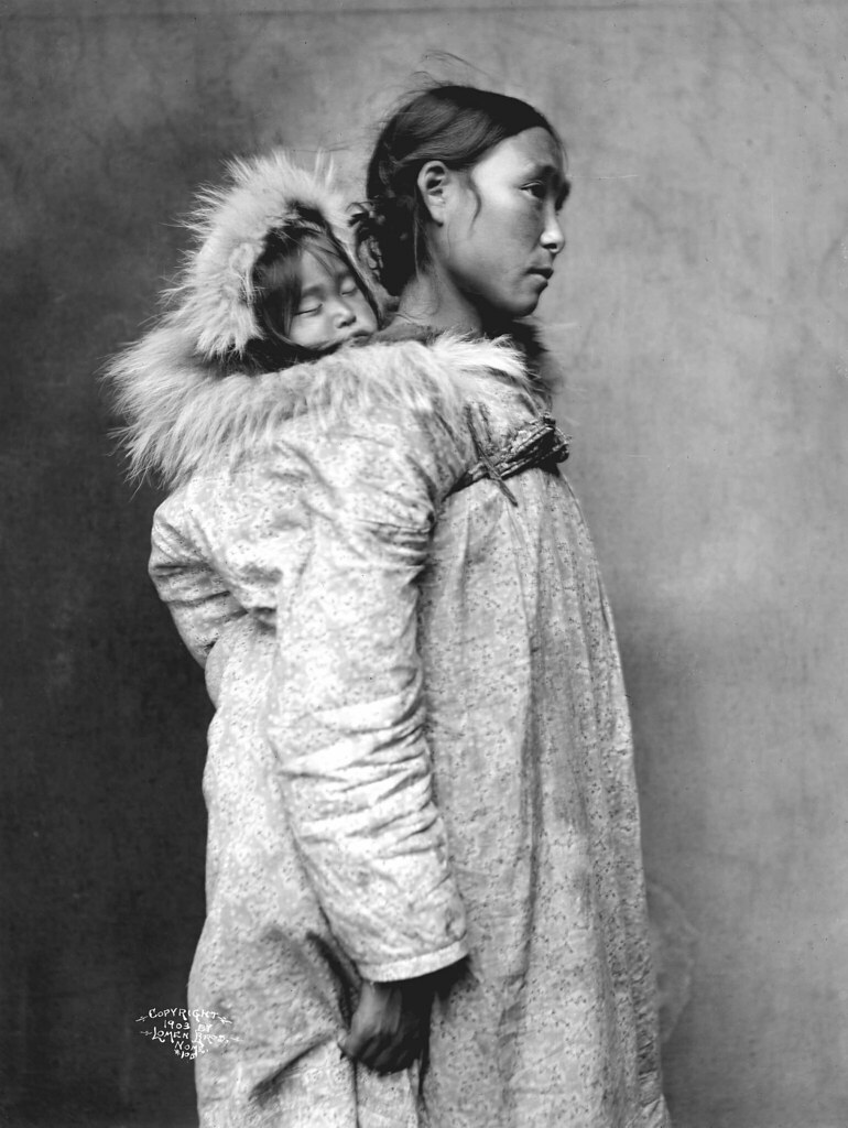 Inuit mother with baby | Image No: ND-1-105 Title: Inuit ...