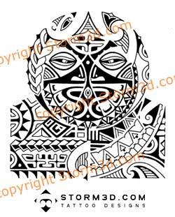 tribal polynesian mask tattoo for shoulder this tattoo des flickr. Black Bedroom Furniture Sets. Home Design Ideas