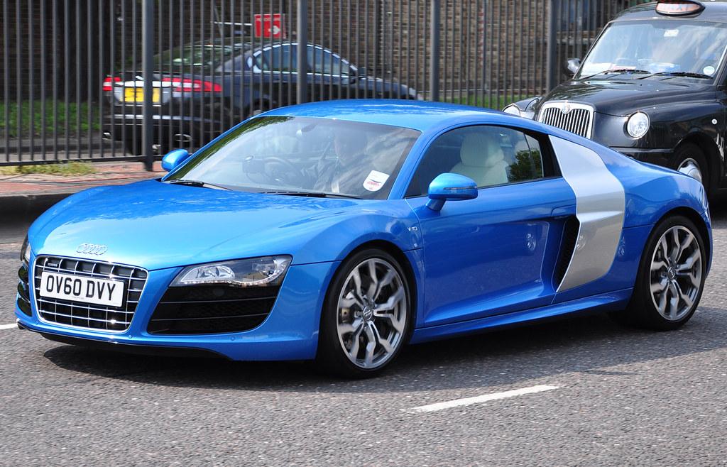 Audi R8 V10 Blue Amp Silver Iamrender Flickr
