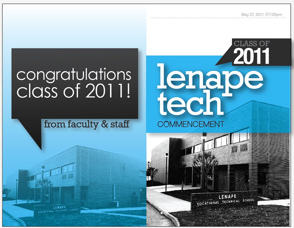 Graduation Book Cover Design : Lenape tech graduation program cover design jordan