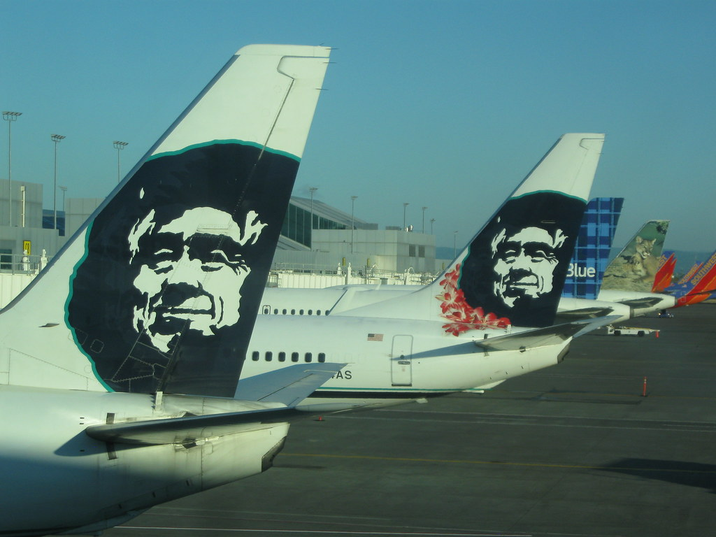 Alaska Airlines at Portland airport Alaska Airlines flight Flickr