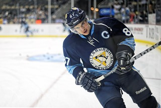 Sidney Crosby skates by in warm ups | by Dave DiCello