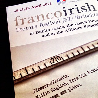 Franco irish literary festival this week end in Dublin | by fabienne & co