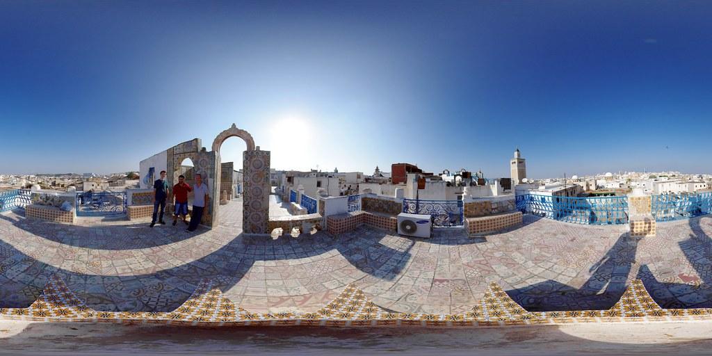 Medina Rooftop, Tunis | Equirectangular panorama built ...