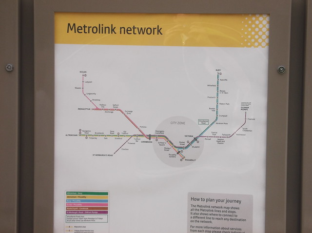 Manchester Metrolink map Flickr Photo Sharing