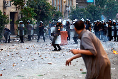 Egyptians clash with security forces in Cairo on June 29, 2011. Youth are demanding justice for those wrongfully killed and imprisoned by the military regime. Despite a change of government, the regime is still a client of US imperialism. | by Pan-African News Wire File Photos