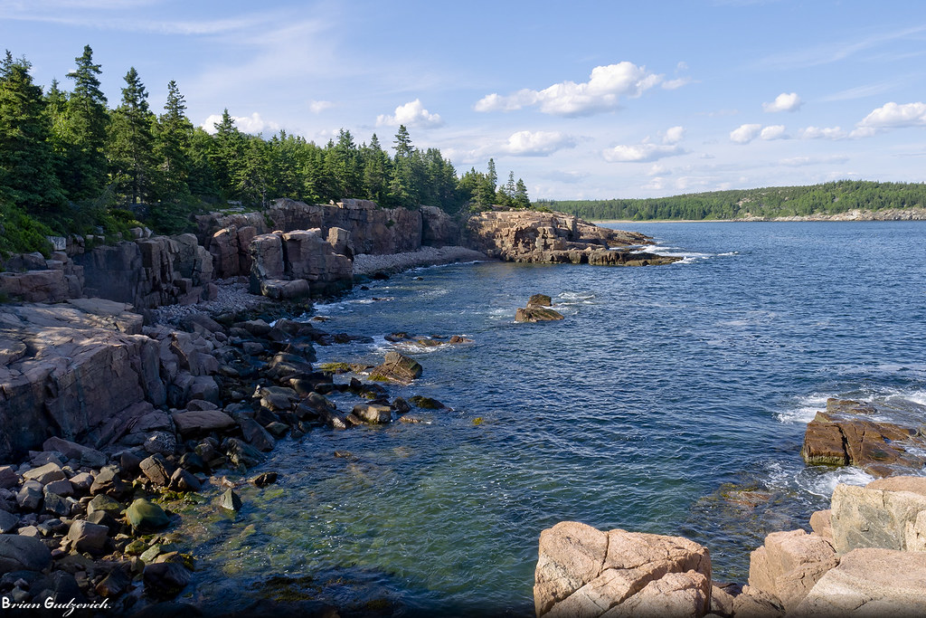 Rocky Coast This Is A Streatch Of The Shoreline On Mount