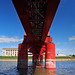 red bridge over the schizophrenic river