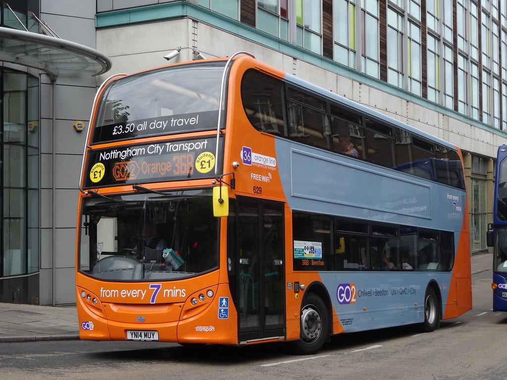 Nottingham City Transport Adl Scania Enviro 400 629 Yn14